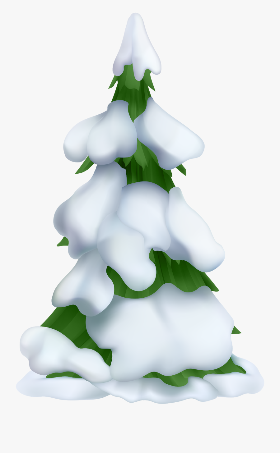 Transparent Tree With Snow Clipart.
