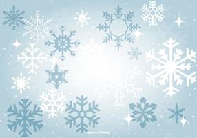 Snowflake Background Free Vector Art.
