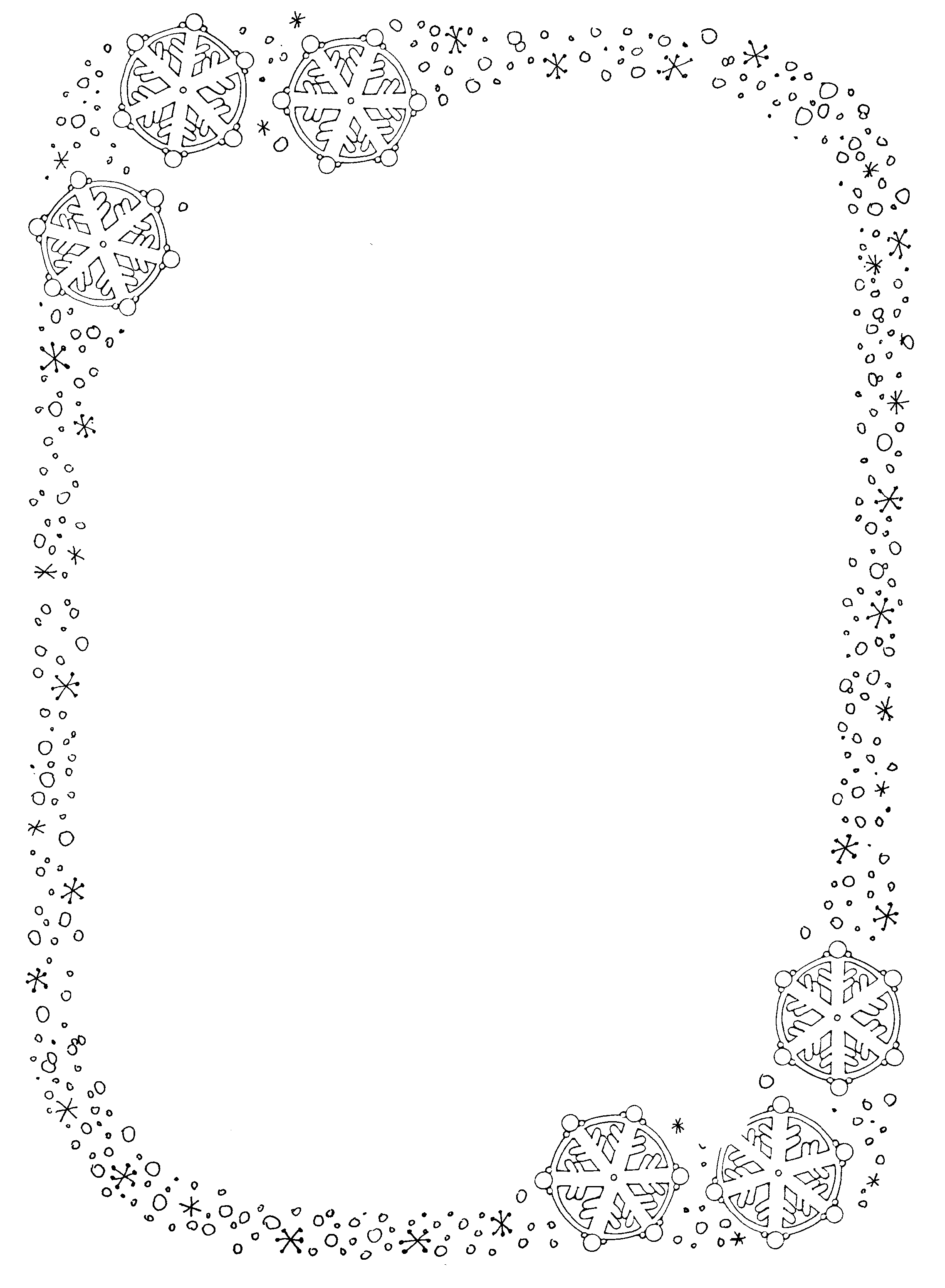 Snowflake Border Clipart#2208789.