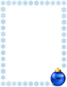 Snowflake Border Merry Christmas Clip Art Download.
