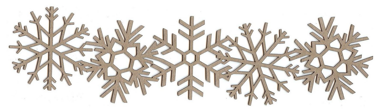 Displaying snowflake border clipart for your project.
