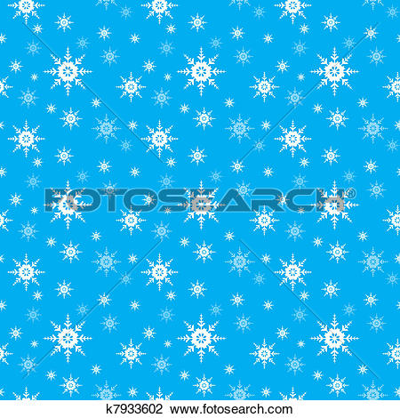Clipart of Seamless Snowflake vector background k7933602.