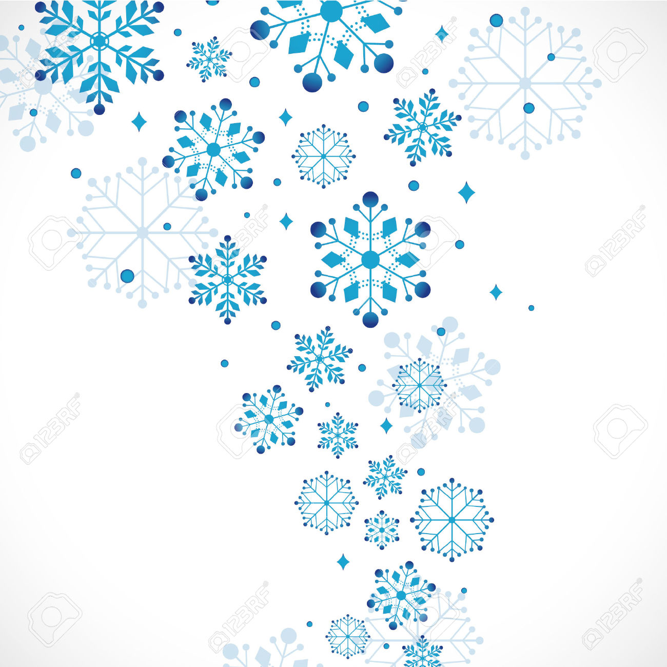 Snow Background, Vector Illustration Royalty Free Cliparts.