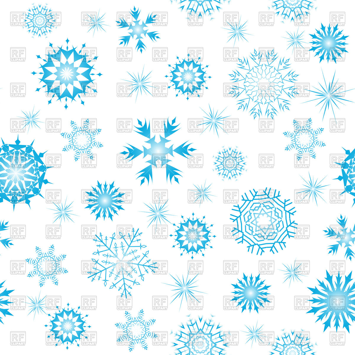 Seamless snowflake winter background Vector Image #92648.