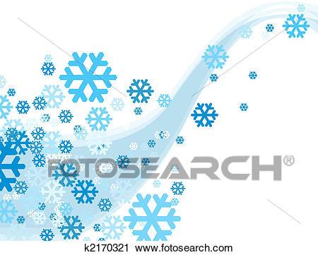 Christmas Celebration Snowflake falling Clip Art.
