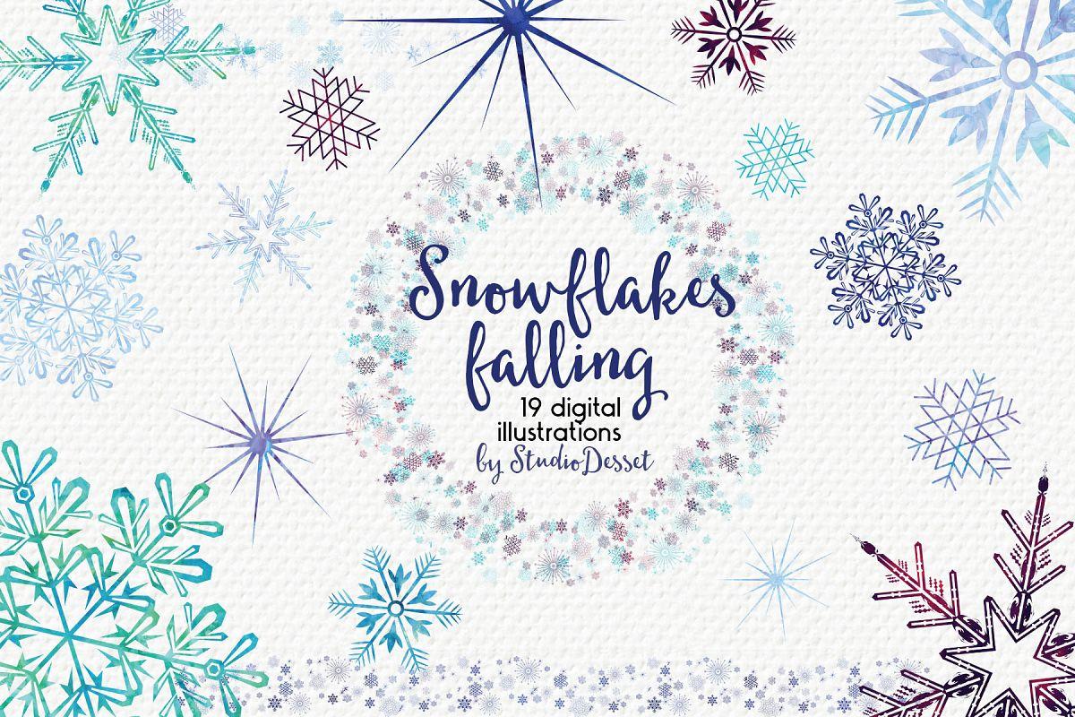 Snowflakes Falling.