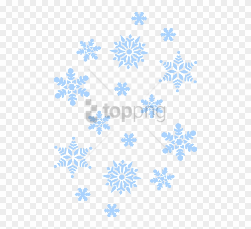 Free Png Blue Snowflakes Falling Png Image With Transparent.