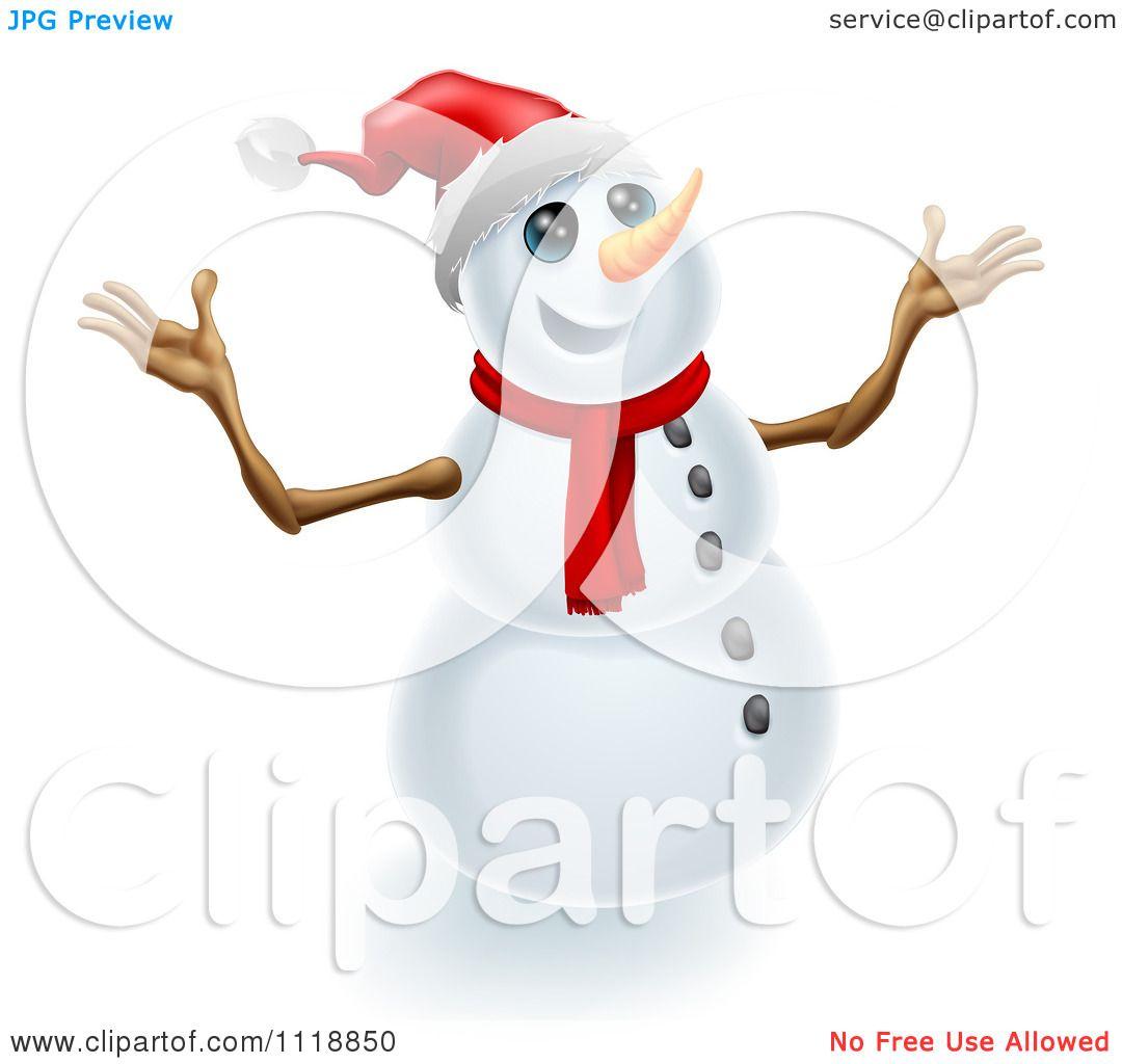 Clipart Snowman Arms