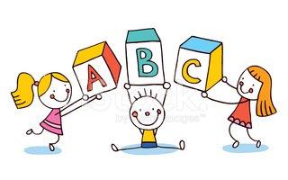 Educação DE Filhos DE Letras Abc imagens vetoriais.