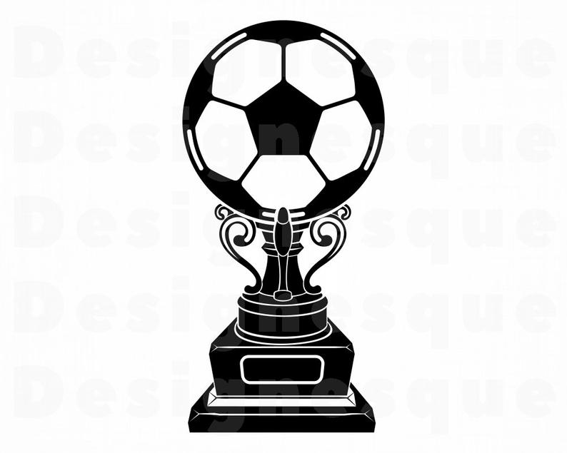 Soccer Trophy SVG, Soccer Trophy Clipart, Soccer Trophy Files for Cricut,  Soccer Trophy Cut Files For Silhouette, Trophy Dxf, Png Eps Vector.