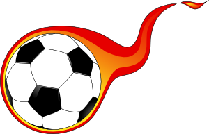 Flaming Soccer Ball clip art (111458) Free SVG Download / 4 Vector.