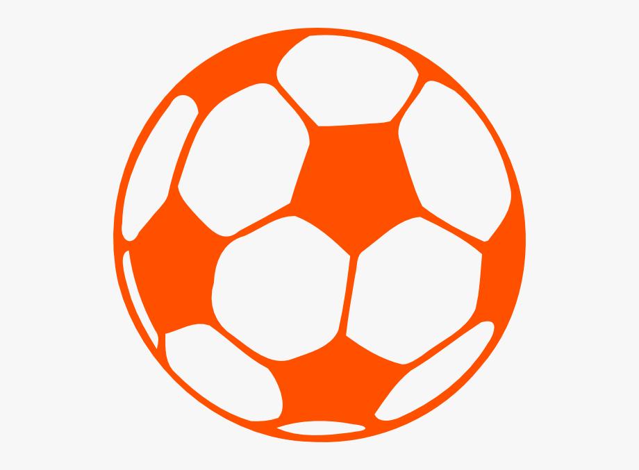 Soccer Ball Clip Art Orange.