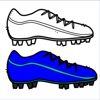 Colorful Football Or Soccer Cleat Clipart Shoe By Designed.