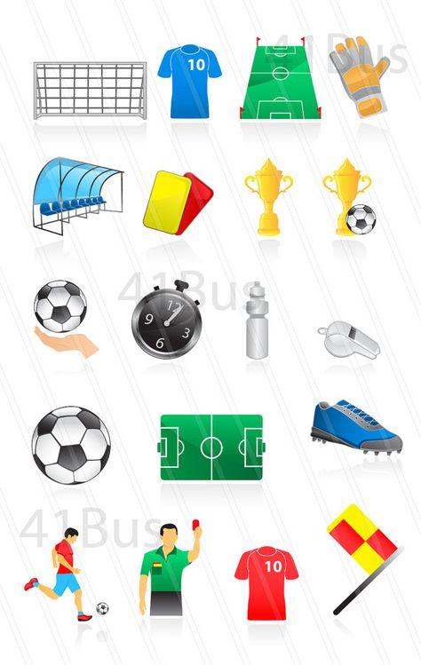 Football Clipart. Soccer Clipart. World Cup Clip Art.