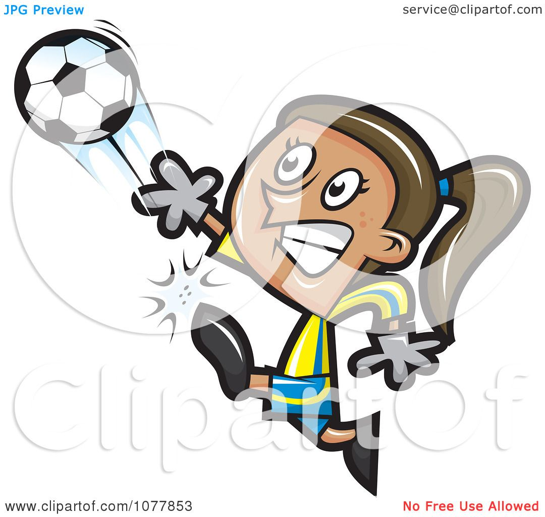 Clipart Girl Soccer Player 2.