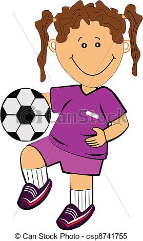 Clipart Vector of soccer.