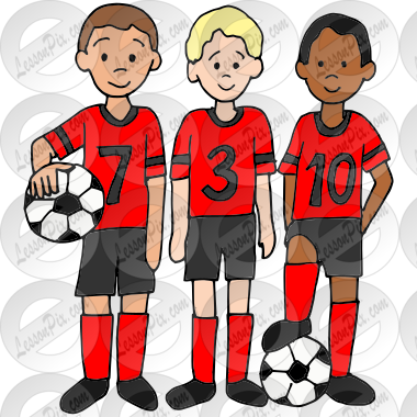 Soccer Team Picture for Classroom / Therapy Use.