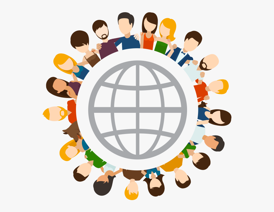 Global Friends Social Network Clipart , Png Download.