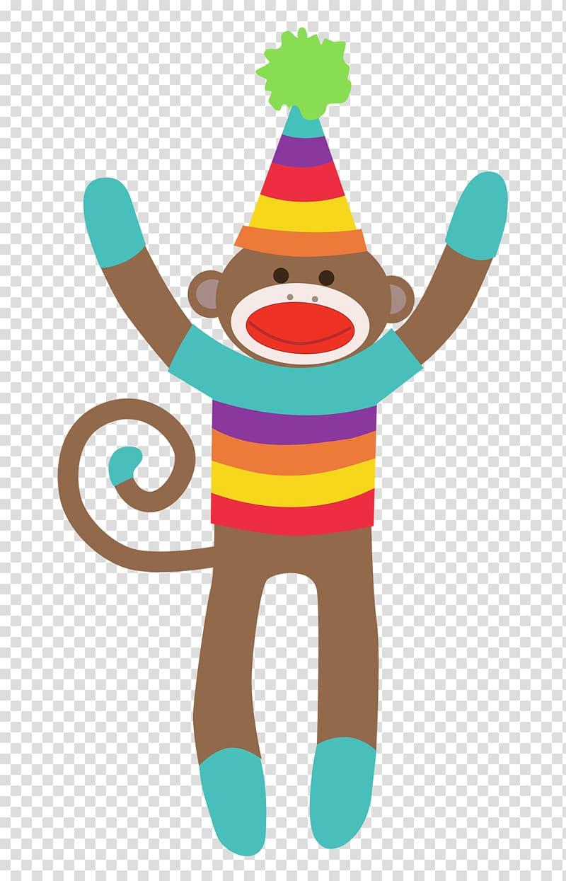 Sock monkey , Free Monkey transparent background PNG clipart.