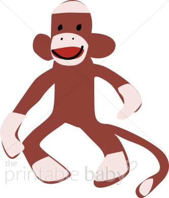 Sock Monkey Clipart.
