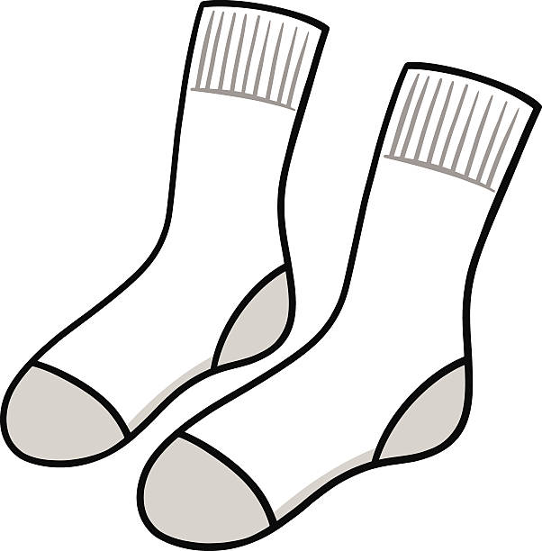 Socks black and white clipart 1 » Clipart Station.