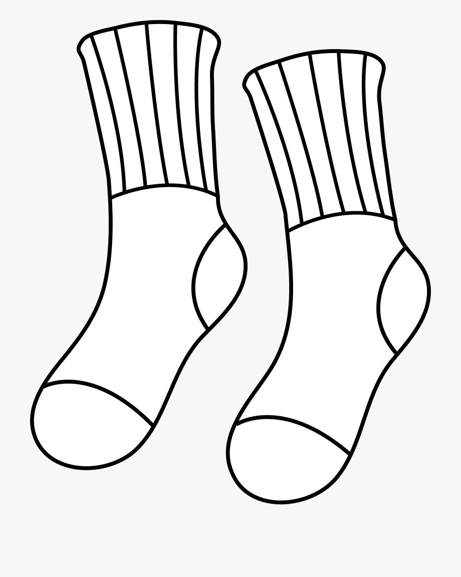 Sock Clip Art Black And White.
