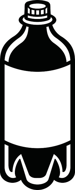 Soda Pop Bottle Clipart Image.
