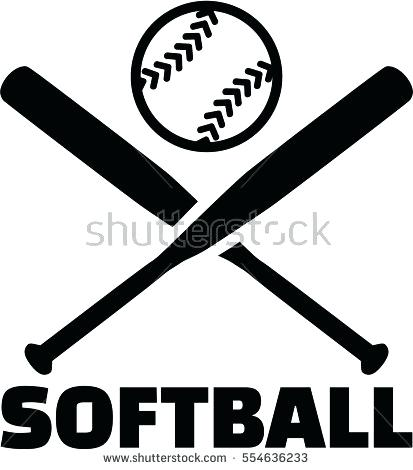 2647 Softball free clipart.