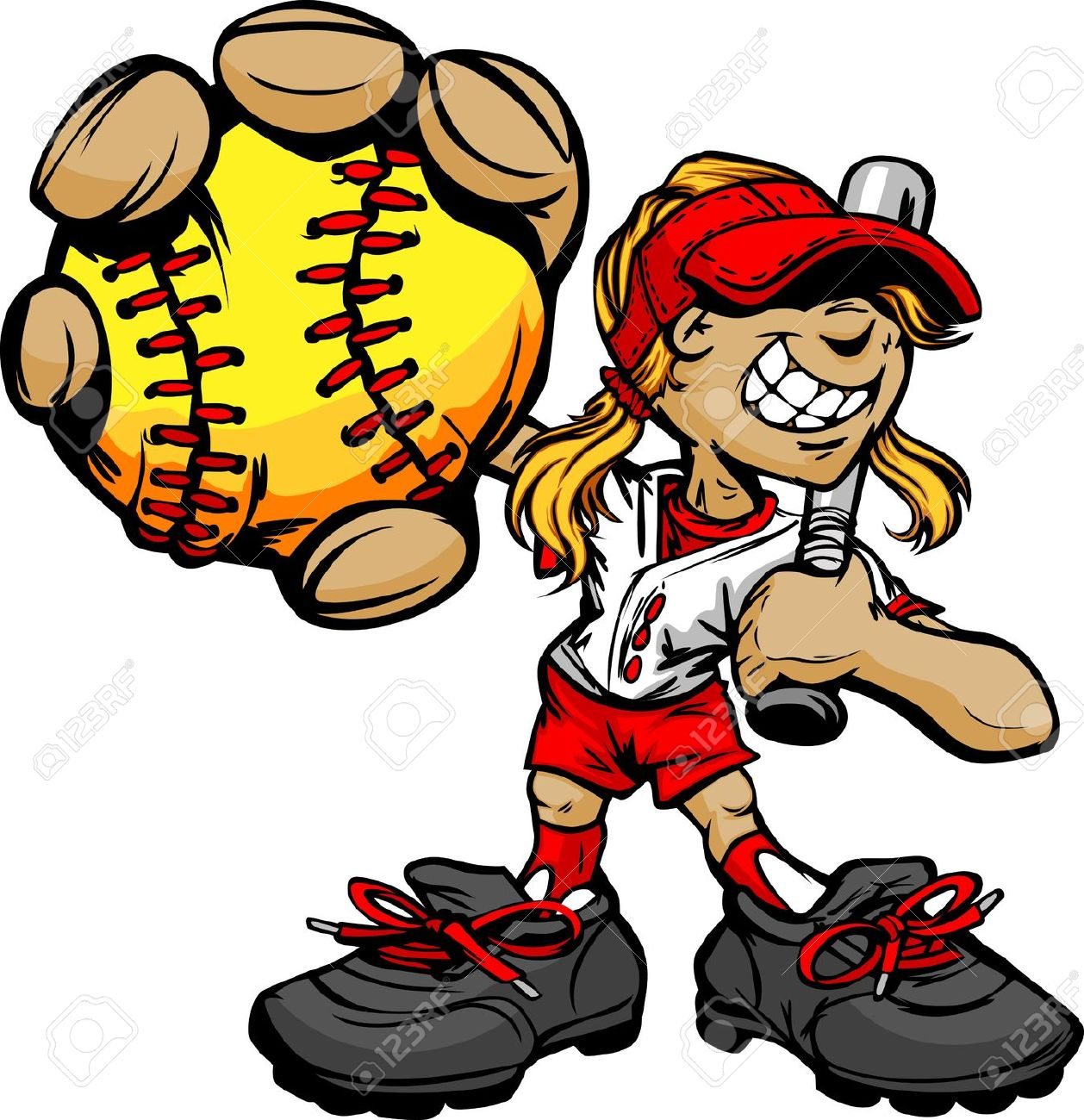 Showing post & media for Cartoon softball player clip art.