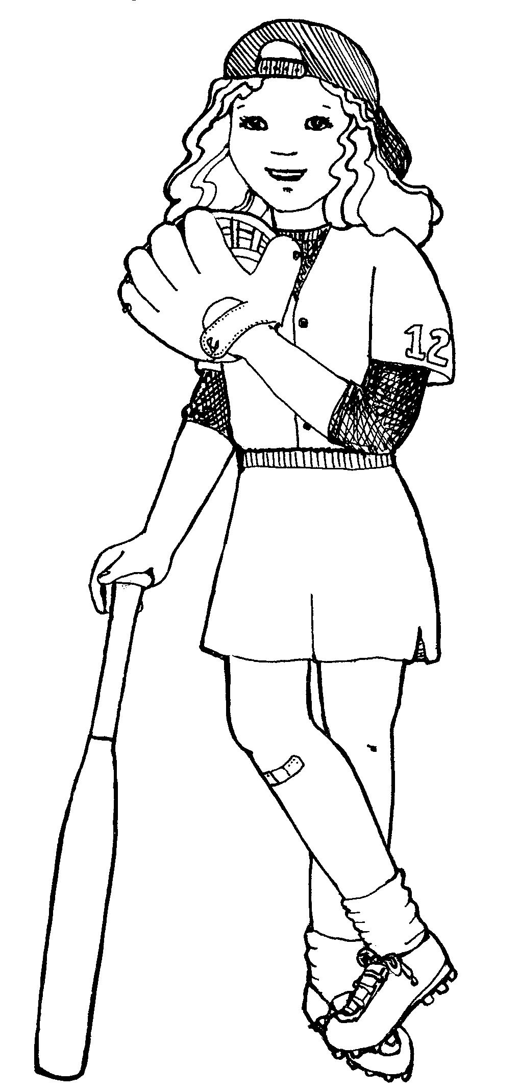 Clipart Softball Girl.