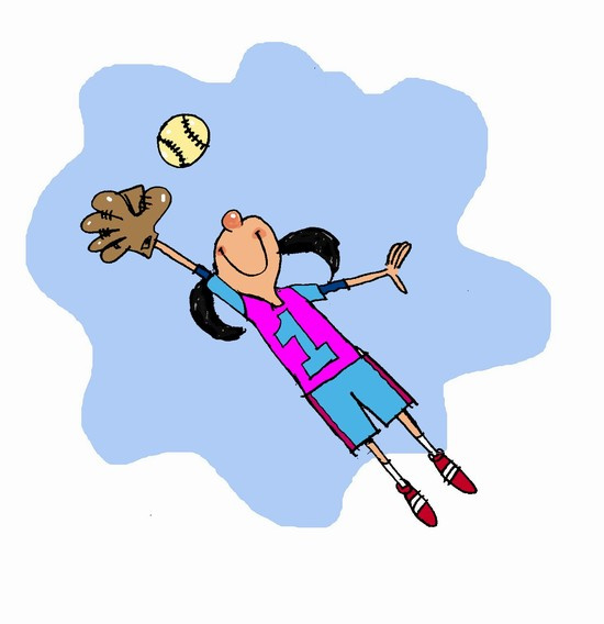 clipart softball girl #13