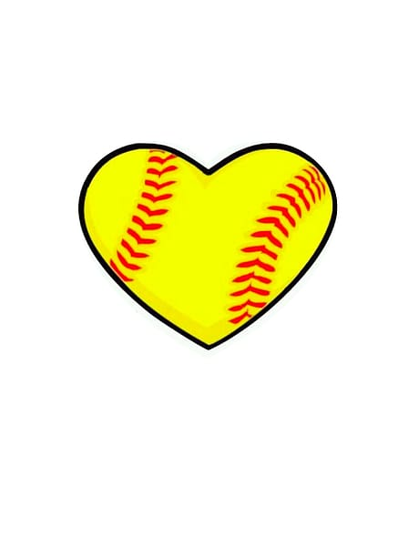 Softball Heart Baseball Sport , Navy Softball transparent background.