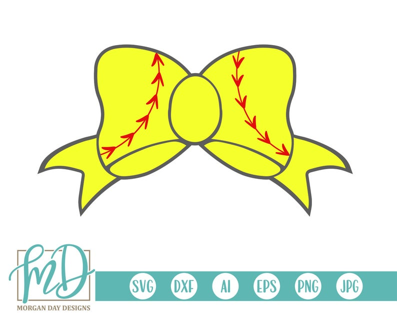Softball Bow SVG, Softball Clipart, Softball SVG, Softball Sister SVG,  Softball Mom svg, Sports, Bow, Fan, Softball Girl svg, Softball dxf.