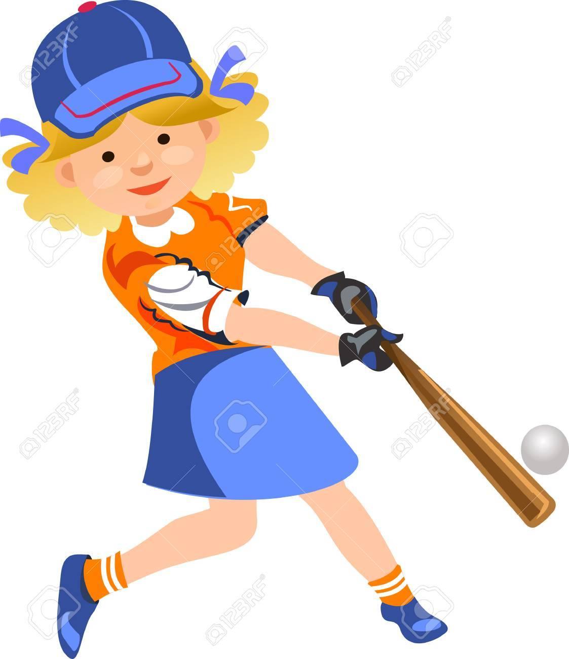 softball girl player.