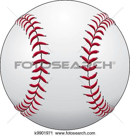 Clipart of Baseball k9901971.