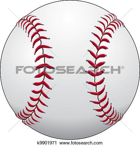 Clipart of Baseball k9901971.
