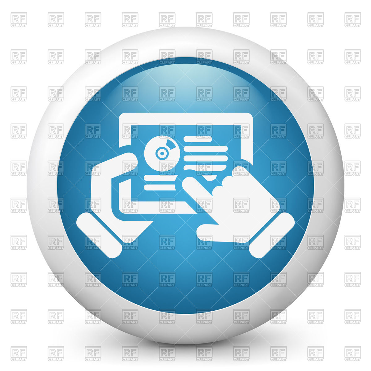 Software or music website on tablet.