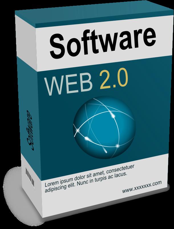 Free Clipart: Software Carton Box Web 2.0 (remix).