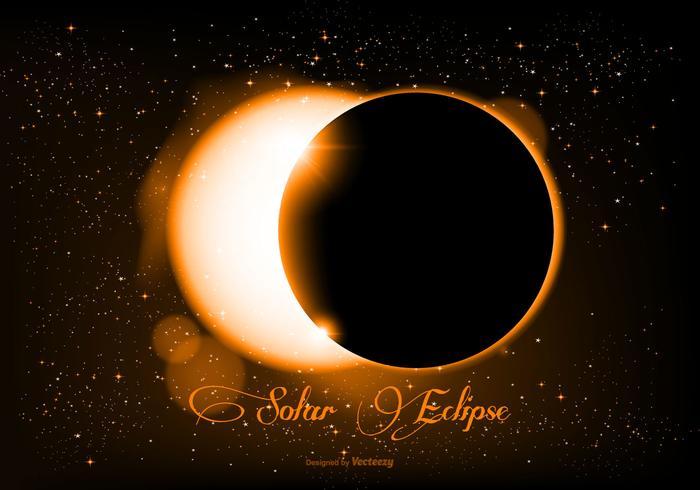 Beautiful Realistic Solar Eclipse Illustration.