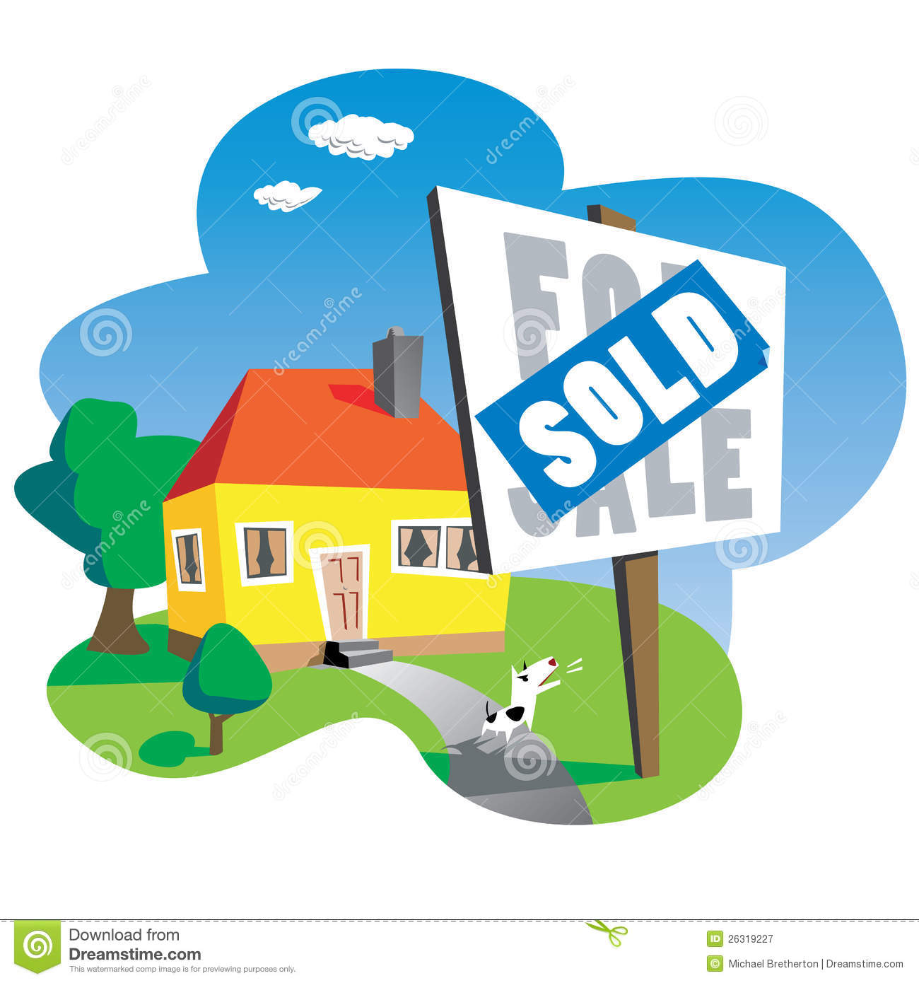 House Sold Sign Clipart.