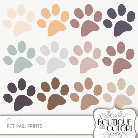 clipart solid color background with dog patern paws #10