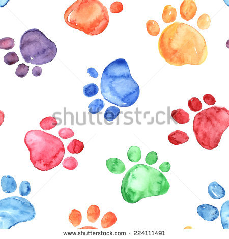 Cat Footprint Stock Images, Royalty.