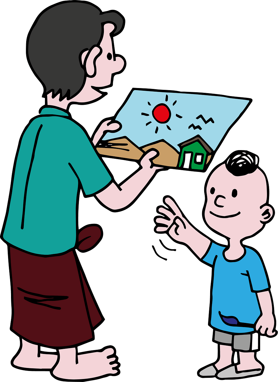 Father and son clipart. Free download..