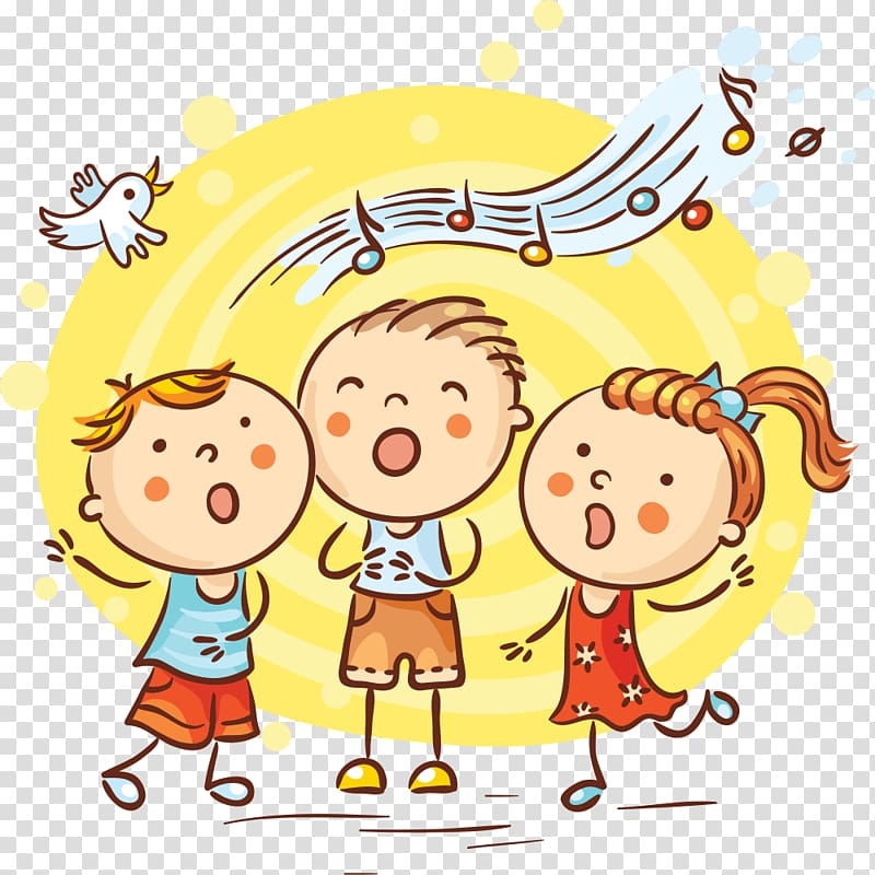 Song Cartoon Singing, singing transparent background PNG clipart.