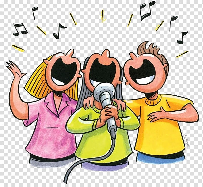 Singing Song Choir Music , flayer transparent background PNG clipart.