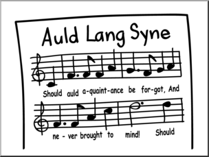 Clip Art: Basic Words: Song B&W Unlabeled I abcteach.com.