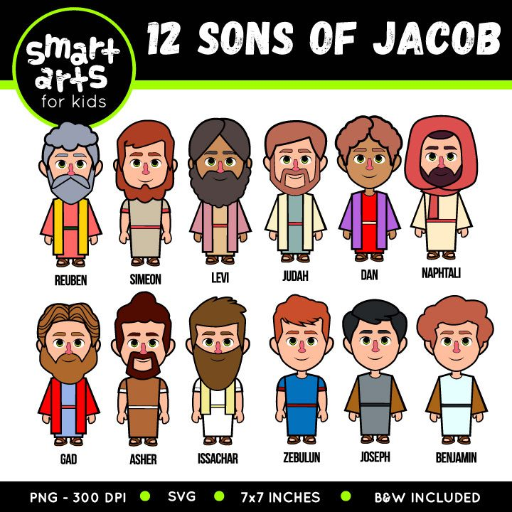 12 Sons of Jacob Clip Art.