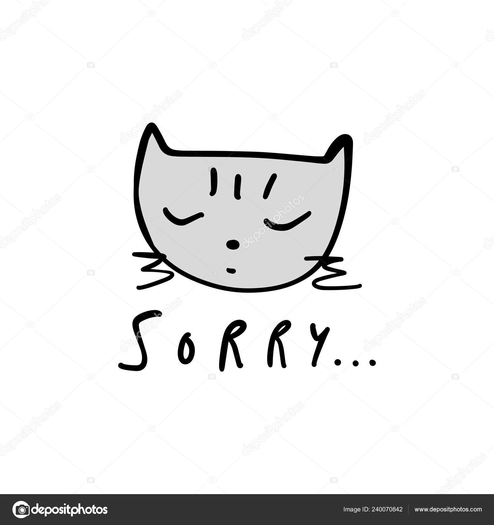 Clipart: sorry cute.