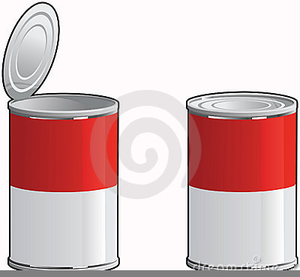 Free Clipart Of Soup Cans.