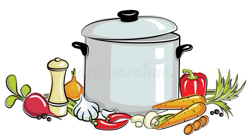 Pot Of Soup Clipart.